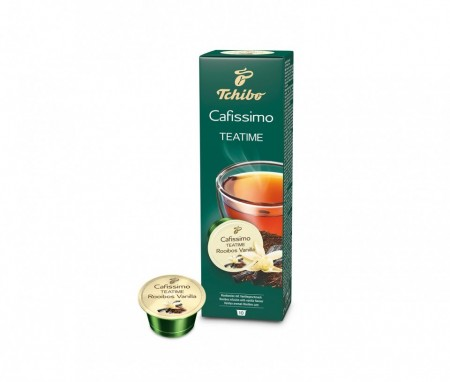 Capsule Ceai Tchibo Cafissimo Teatime Rooibos Vanilla, Vanilie, 10 capsule, 20g
