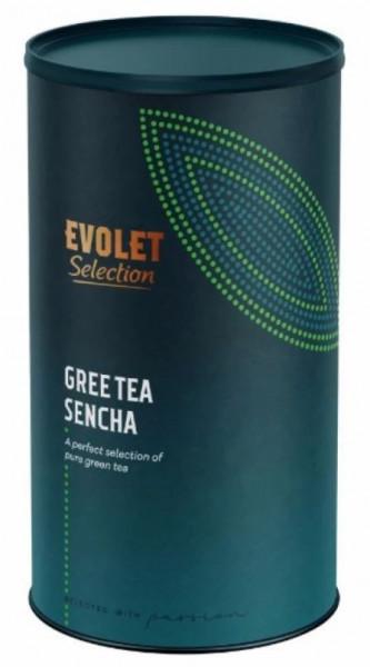 Ceai EVOLET Selection infuzie TUB - Green Tea Sencha, 250g Ceai in Tub de Carton, Ceai Verde Sencha