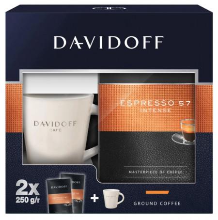 PACHET PROMOTIONAL DAVIDOFF Caffee Espresso 57, contine 2x250g + Cana[CADOU]