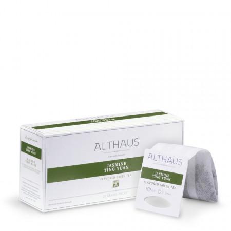 Althaus Grand Pack Jasmine Ting Yuan: Ceai Verde cu Iasomie, T-Bag, 20 plicuri in cutie, 4g in plic