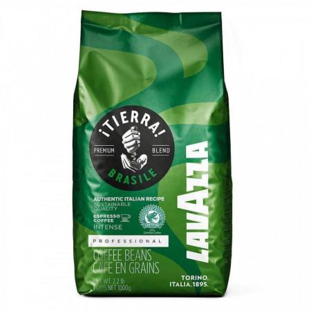 Cafea Boabe Lavazza Tierra Brasile Intense, 1kg, Brazilia, cafea amestec, note de ciocolata neagra, gust intens