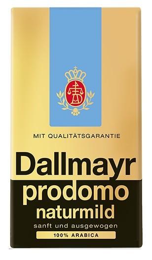 Cafea Macinata Dallmayr Prodomo Decaf, 500g, Cafea Amestec, 100% Arabica, Fara Cofeina, Amestec