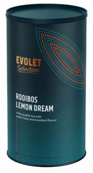 Ceai EVOLET Selection infuzie TUB- Rooibos Lemon Dream, 250 grame de ceai in tub de carton, pentru zile frumooase
