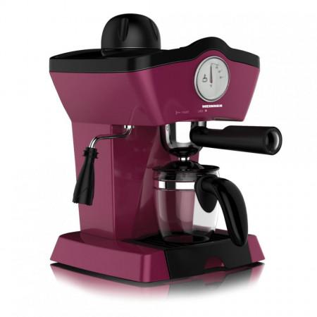 Espressor Heinner CHARM, espresso si capuccino, 3.5 bar, 4 cesti, Visiniu