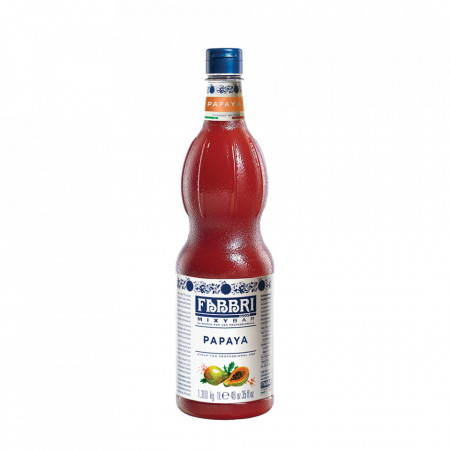Fabbri MIXYBAR PAPAIA - Cocktailuri, Granite, Smoothie-uri, Milkshake, Sorbete, Sticla din plastic, 1 litru