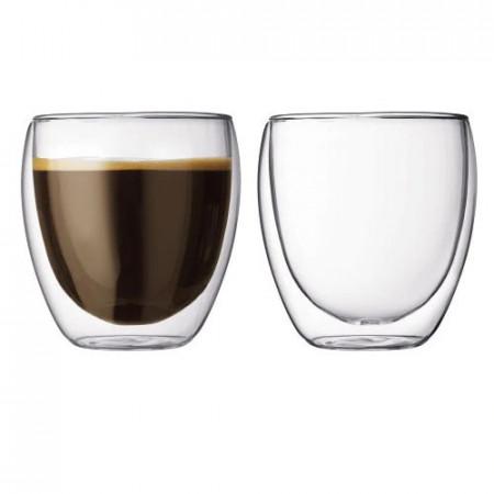 Set pahare espresso Lavazza cu perete dublu 80 ml 2 buc