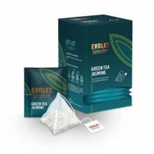 CEAI EVOLET Selection Pyramid Ceai verde si Iasomie, 25 plicuri, Plic Piramida, Greutate Plic 2.25g