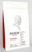 GUIDO Cafea Proaspăt Prăjită COLUMBIA ORIGIN SELECT DECAF, 250g, Note de Caramel și Lemongrass, Corp Delicat și Suculent, Espresso, Metode Alternative si Ibric