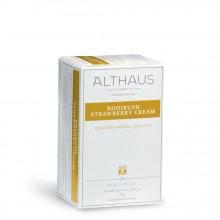 Althaus Deli Pack Rooibush Strawberry Cream: Ceai Rooibos, Capsuni, 20 plicuri în cutie, 1,75g ceai în plic din hartie