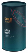 Ceai EVOLET Selection infuzie TUB- Hawaii fruit, 250g ceai in tub din carton, fara coloranti
