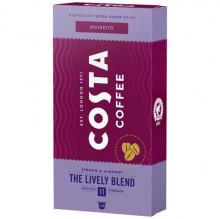 Capsule COSTA COFFEE Ristretto Lively Blend, 5.7gr/capsula, 10 capsule in cutie, Gust Intens, Note de Migdale, Compatibil cu aparatele Nespresso