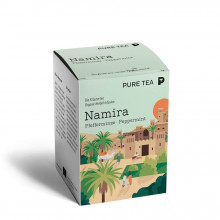 Pure Tea Bio Pyra Namira Peppermint - infuzie de plante, menta, in plic transparent, 3 gr/plic, 15 plicuri in cutie