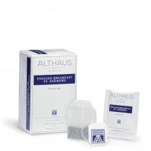 Althaus Deli Pack English Breakfast: Ceai Negru, 20 plicuri în cutie, 1,75g ceai în plic diin hartie