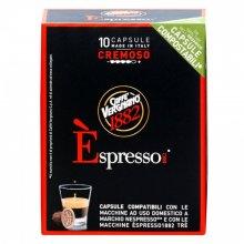 Capsule cafea Vergnano espresso 1882 Nespresso Cremoso, 10 capsule, 50 g