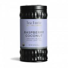 Raspberry Coconut - Ceai negru organic zmeura, cocos, petale de trandafir