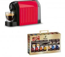 PROMOTIE! Tchibo Cafissimo Espressor easy Red + 70 Capsule Cafissimo Clasic, putere 1250 W, 3 presiuni, Rezervor 650 ml, ROSU