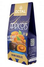 Caise uscate cu miez de migdala dulce in ciocolata neagra Octal Original Taste 100g