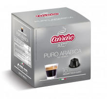 CARRARO Purro Arabica Capsule Cafea, tip Dolce Gusto, set – 16buc