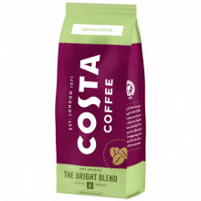 Costa Bright Blend, Cafea Macinata, 200g, Gust Plin cu Note de Miere, 100% Arabica