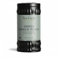 Green Mango Peach - Ceai verde organic cu mango, piersica, honeybush, frunze de menta si ghimbir