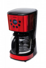 Cafetiera Heinner Morning Passion, control electronic, afisaj LCD, 1.8l in rezervor, 900WRosu
