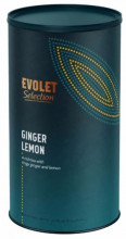 Ceai EVOLET Selection infuzie TUB - Ginger Lemon, 250g ceai in tub din carton, ghimbir si lamaie