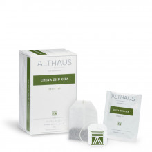 Althaus Deli Pack China Zu Cha: Ceai Verde China, 20 plicuri în cutie, 1,75g ceai în plic din hartie