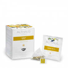 Althaus Pyra Pack Lemon Mint: Infuzie Herbal, 15 plicuri in cutie, 2,75g ceai in plic din matase