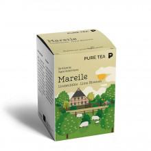 Pure Tea Bio Pyra Mareile Lime Blossoms - infuzie de flori de tei, in plic transparent, 3 gr/plic, 15 plicuri in cutie