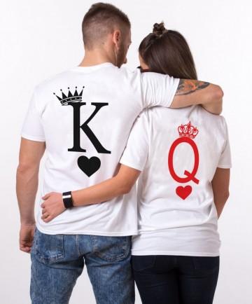 """Set cuplu """"K & Q CARDS"""""""