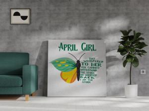 Canvas April Girl [Berbec/Taur]