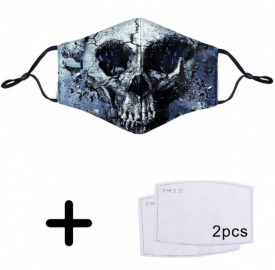Masca print craniu