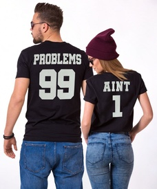 "Set cuplu ""99 PROBLEMS"""