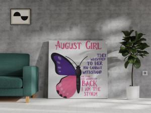 Canvas August Girl [Leu/Fecioară]