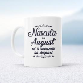 Nascuta in August ai 5 secunde sa dispari