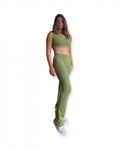 Pantaloni sport verzi