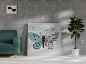 Canvas December Girl [Săgetător/Capricorn]
