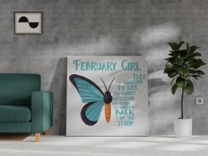 Canvas February Girl [Pești/Vărsător]