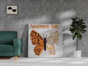 Canvas November Girl [Scorpion/Săgetători]