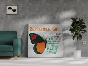 Canvas September Girl [Fecioară/Balanță]