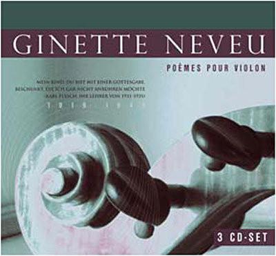 Imagens Johannes Brahms - Ginette Neveu - Poémes Pour Violon (3 CD)