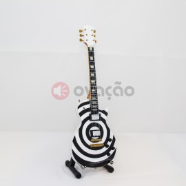 Imagens Mini-Guitarra Gibson Les Paul Bullseye - Zakk Wylde - Black Label Society