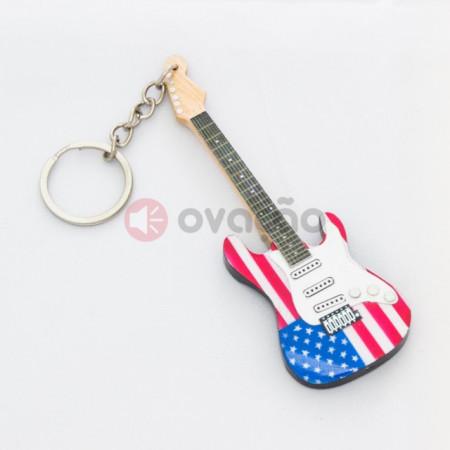 Imagens Porta-Chaves Guitarra USA Flag