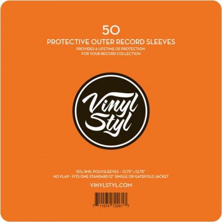 Imagens 50 Bolsas para disco vinil Vinyl Styl (Poly Sleeve para LP's - 50 Unid)