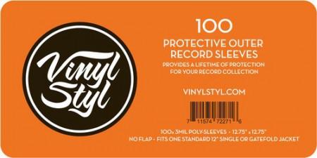 Imagens 100 Bolsas para disco vinil Vinyl Styl (Poly Sleeve para LP's - 100 Unid)