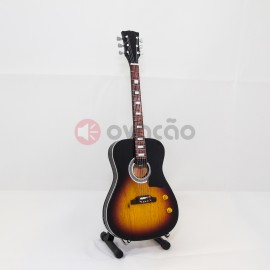 Imagens Mini-Guitarra Acoustic Sunburnst - John Lennon - The Beatles