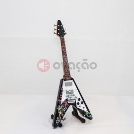 Mini-Guitarra Gibson Psychedelic Fly V - Jimmi Hendrix images