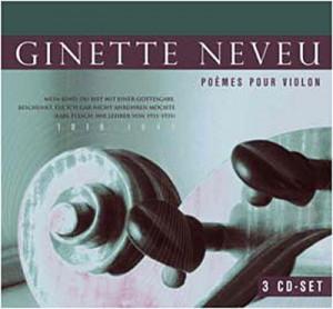 Johannes Brahms - Ginette Neveu - Poémes Pour Violon (3 CD)