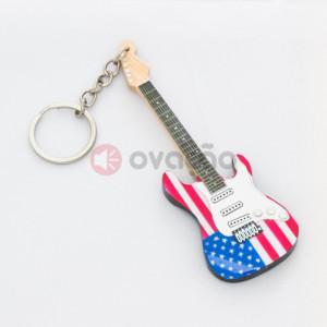 Porta-Chaves Guitarra USA Flag