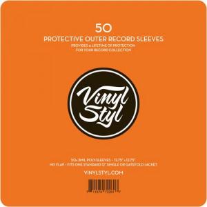 50 Bolsas para disco vinil Vinyl Styl (Poly Sleeve para LP's - 50 Unid)